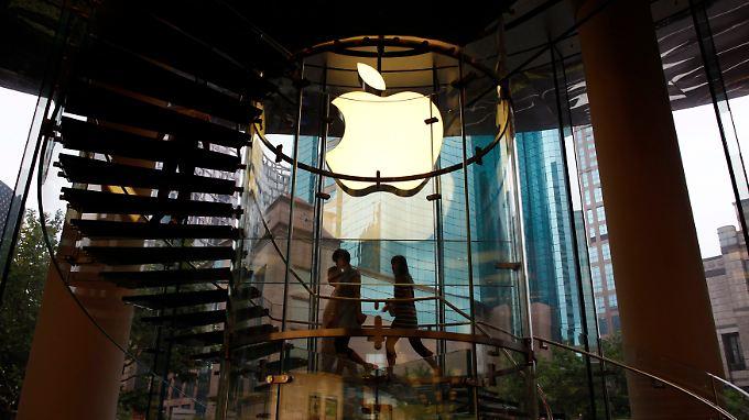Hier blitzt alles: Ein Apple-Laden in Shanghai.