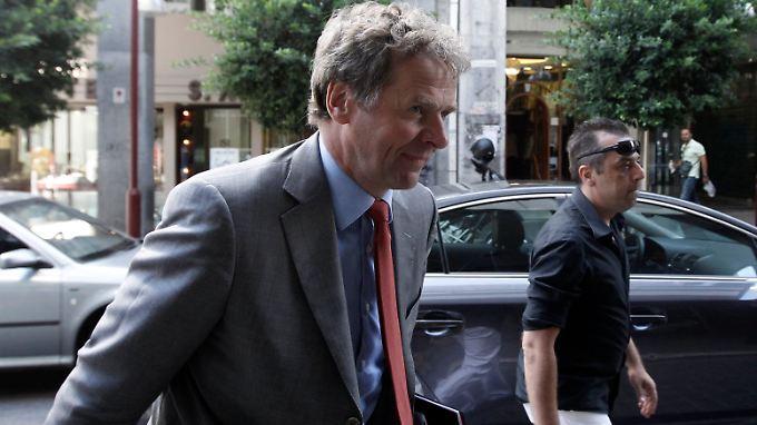Bekommt Griechenland die Kurve? IWF-Experten, hier der Leiter der Mission in Athen, Poul Thomsen, haben ihre Bedenken.