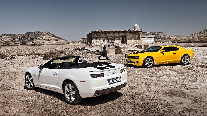 Den Camaro gibt es als Coupé und als Cabrio.
