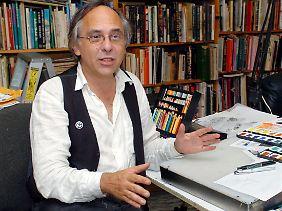 Art Spiegelman in seinem New Yorker Atelier.