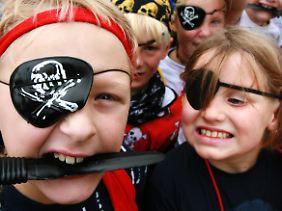 Piraten gibt es heute in Dithmarschen nur noch auf Kinderfesten.