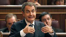 José Luis Rodríguez Zapatero beklagt die unsichere Lage an den Finanzmärkten.