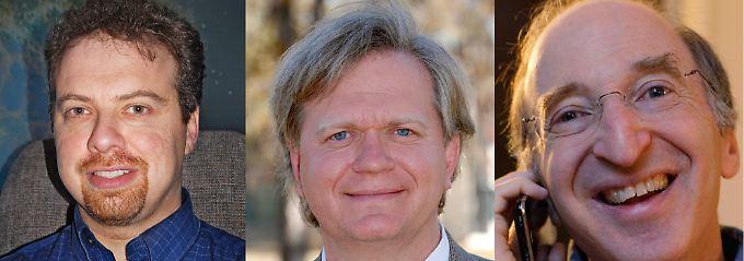Die Nobelpreisträger für Physik stehen fest: Adam Riess, Brian P. Schmidt und Saul Perlmutter (v.l.)
