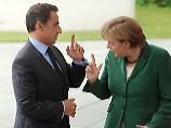 Sarkozy und Merkel liegen im Zwist.