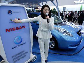 """1,5 Millionen E-Pkw ins fünf Jahren: Nissan drückt auf """"Start""""."""