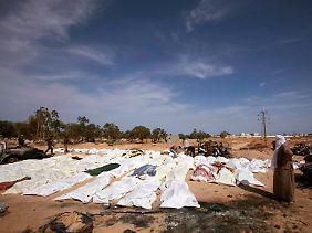 Weitere Leichen von Gaddafi-Anhängern bei Sirte.