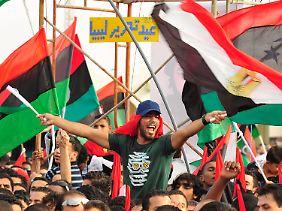 Die Libyer haben offiziell ihre Befreiung gefeiert.
