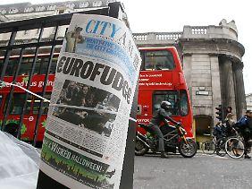 Die Briten gehören nicht zum Euro-Raum und wollen sich auch nicht den Rettung des Euro beteiligen.