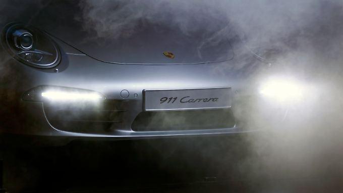 Präsentation des neuen Porsche 911 Carrera: Die Fantasie ist gefragt.
