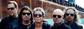 Von links nach rechts: Hetfield, Trujillo, Reed, Ulrich, Hammet.
