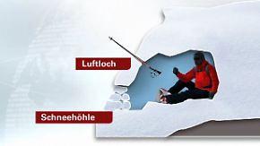 Bergsteiger harren in Schneeloch aus: Schnee und Wind verhindern Rettung