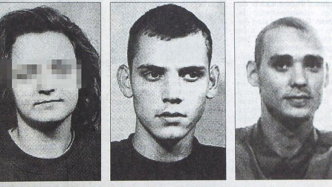 Fahndungsbild von Beate Zschäpe (v.l.), Uwe Böhnhardt und Uwe Mundlos aus dem Jahr 1998.