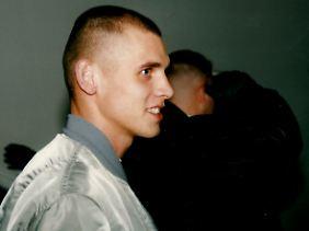 Uwe Böhnhardt im Herbst 1996 in Erfurt im Umfeld eines Prozesses gegen den Holocaust-Leugner Manfred Roeder.