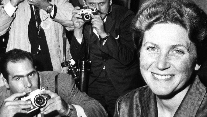 Swetlana Allilujewa nach ihrer Ankunft in den USA 1967. Hier nennt sie sich Lana Peters.