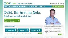Dr. Mordhorst begrüßt die Patienten auf der neuen Internet-Plattform.