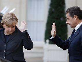 Das Risiko einzugehen, nicht einer Meinung zu sein, bedeute das Risiko des Auseinanderbrechens der Eurozone und des Euro, sagte Sarkozy.
