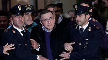 Zagaria bei seiner Verhaftung.