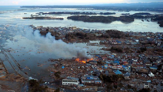 Die japanische Küste nach Erdbeben und Tsunami.
