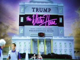 Obamas Vision von einem Weißen Haus unter Trump (gezeigt anlässlich der traditionellen satirischen Rede zum Correspondents' Dinner).