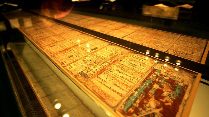 Die Maya-Handschrift mit der vermeintlichen Prophezeiung des Weltuntergangs sorgt zurzeit für einen Besucheransturm in der Sächsischen Landesbibliothek in Dresden. Die SLUB zeigt das Original des 800 Jahre alten Kodex, der den Weltuntergang am 21. Dezember 2012 vorhersagen soll.