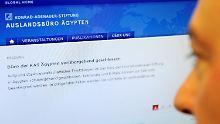 """Die Homepage der Konrad-Adenauer-Stiftung vermeldet die Durchsuchung des Büros in Ägypten aufgrund """"staatsanwaltschaftlicher Ermittlungen""""."""