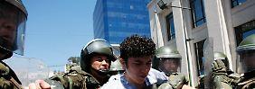 In Valparaiso wird ein Student festgenommen.