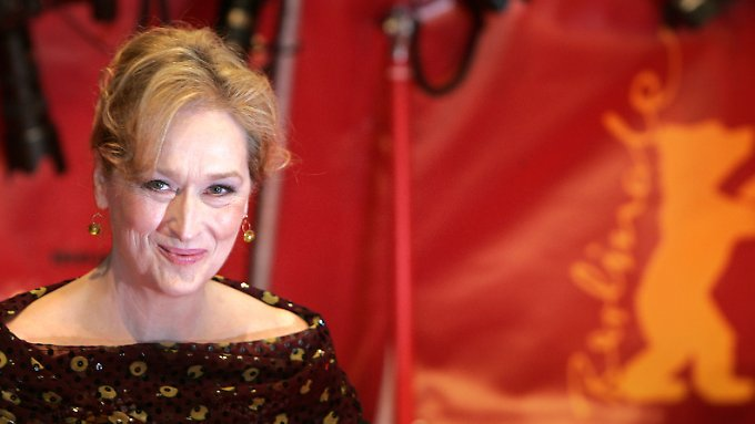 """Meryl Streep stellt in Berlin ihren Kinofilm """"Der Eiserne Lady"""" vor."""