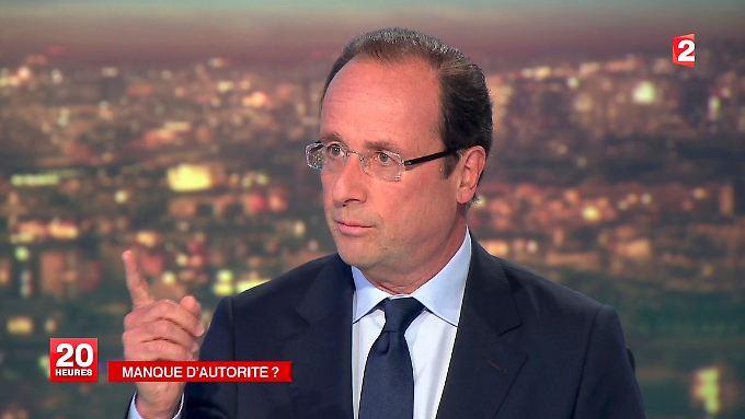 Hollande arbeitet sich an Sarkozy ab.