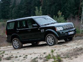 Wer im Land Rover Discovery das Gelände sucht, ist dank Terrain-Response-System auf der sicheren Seite.