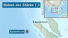 Lokale Tsunamis möglich: Erde bebt vor Sumatra