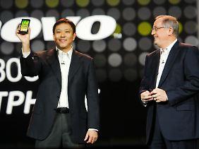 Das erste Handy mit dem neuen Intel-Chip ist das Lenovo K800.