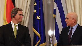 Reformen hinken hinterher: Westerwelle macht Griechen Mut