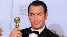 Jean Dujardin bekommt als bester Komödiendarsteller 2012 den Golden Globe.