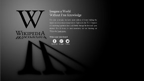 Protest gegen neues Gesetz: Wikipedia schaltet auf schwarz