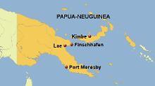 Das Unglück ereignete sich zwischen Kimbe und Lae, etwa auf Höhe des kleinen Orts Finschhafen.