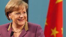 Themen auf dem Tisch: Angela Merkel in Peking