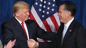 Alle wollen Trump, sagt Trump. Romney hat ihn nun.