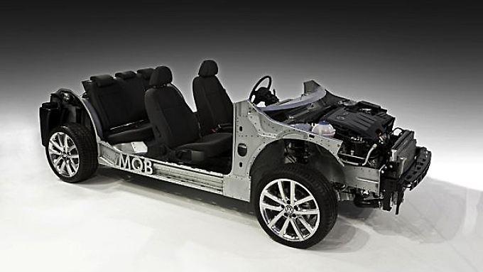 Das Hauptkennzeichen des MQB in Bezug auf die Fahrzeuge der Zukunft ist die Flexibilität der Konstrukteure bei Länge, Breite und Radstand.