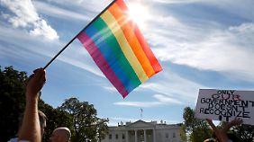 """""""Gleiche Rechte überall in den USA"""", forderten erst jüngst Homosexuelle auf einer Großdemo in Washington."""