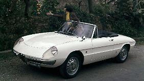 """Der Alfa Romeo Spider sorgte in dem Film """"Die Reifeprüfung"""" für Furore."""
