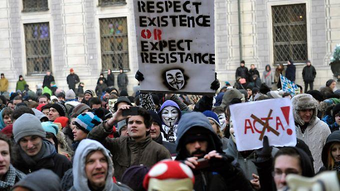Proteste auf dem Münchner Odeonsplatz.