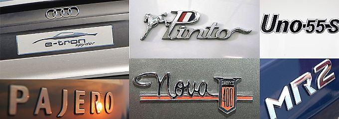 Nicht immer haben Autobauer bei den Namen ihrer Fahrzeuge Glück. Sprachliche Verwirrungen sind programmiert.