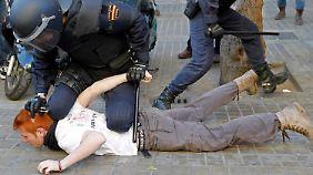 Proteste gegen Sparbeschlüsse in Spanien: Polizei prügelt auf Schüler ein