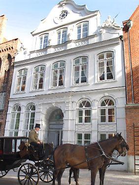 Das Buddenbrookhaus in Lübeck.