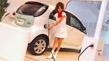Star der Tokio Motor Show: Mitsubishis i-MiEV.