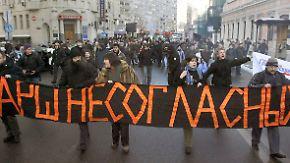 Kreml verunsichert: Proteste gegen Putin gehen weiter