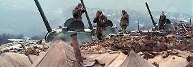 Russische Artilleriestellung im Kaukasus (Archivbild).