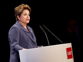 Brasiliens Präsidentin Dilma Rousseff auf der Computermesse Cebit.