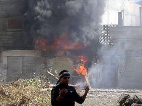Das Viertel Baba Amr stand rund einen Monat lang unter Beschuss.