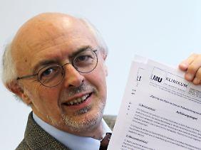Rudolf Schierl ist Chemiker am Klinikum der Ludwig-Maximilians-Universität München.